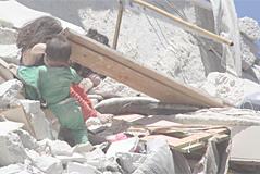 La terrible escena de la niña siria que murió salvando a su hermana pequeña