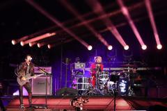 El grupo británico Muse durante el concierto en el Wanda Metropolitano.