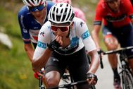 Tignes (France).- Colombia's Egan Arley Bernal Gomez of team Ineos (L) and the breakaway in action during the 19th stage of the 106th edition of the <HIT>Tour</HIT> de France cycling race over 126,5km between Saint Jean de Maurienne and Tignes, France, 26 July 2019. (Ciclismo, <HIT>Francia</HIT>) EPA/