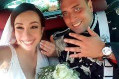 Mario Cerciello, el carabinero asesinado, junto a su mujer el día de su boda.