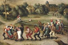 Los 'Bailarines de San Juan en Molenbeek', una pintura de Pieter Brueghel.