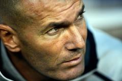 Zinedine Zidane, durante el derbi ante el Atlético en Nueva York.