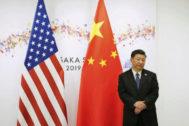 El presidente chino Xi Jinping, a la espera de su homólogo estadounidense, Donald Trump, en la cumbre del G20, el mes pasado en Osaka (Japón).