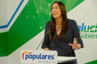 Loles López, secretaria general del PP-A este viernes.