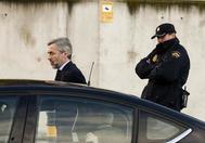 Ángel Acebes, ex presidente del comité de auditoría de BFA-Bankia, a la salida de una de las sesiones del juicio.