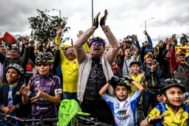 Los seguidores de Bernal festejan Zipaquirá el triunfo de su ídolo.
