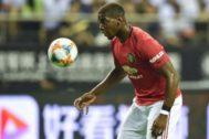Pogba, el jueves durante el United-Tottenham en Shanghai.