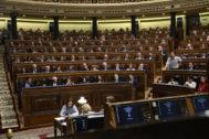 Diuptados, en un Pleno del Congreso.