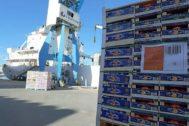El puerto de Castellón es una de las puertas de salida de los cítricos al continente americano.