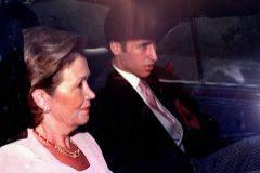 Raúl y su madre, Marisa Blanco, el día de la boda del ex futbolista, el 1 de julio de 1999.