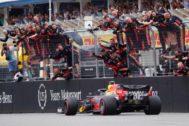 Verstappen, vencedor en la meta de Hockenheim.