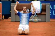 Ramos, tras ganar el título en Gstaad.
