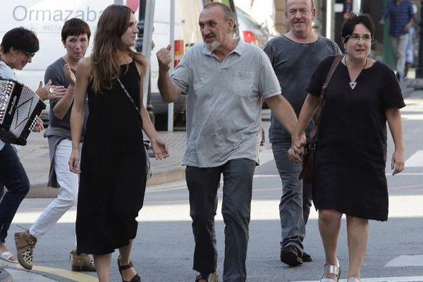 Uno de los secuestradores de Ortega Lara, Xabier Ugarte, a su llegada...