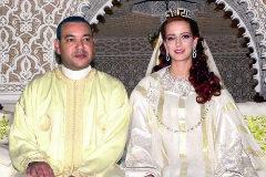 Mohamed VI y Salma Bennani el día de su boda, en marzo de 2002.