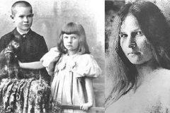 El poeta Georg Trakl, de niño, junto a su hermana Gretl en la primera década del siglo XX. Y, al lado, Gretl dos años antes de suicidarse.