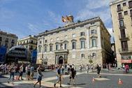 Fachada principal del Palau de la Generalitat.