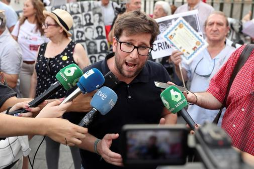 Miguel Urbán, uno de los líderes de Anticapitalistas, en un acto de...