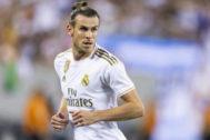 Gareth Bale, durante el último derbi ante el Atlético.
