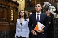 Los dirigentes de Ciudadanos Inés Arrimadas y Albert Rivera.