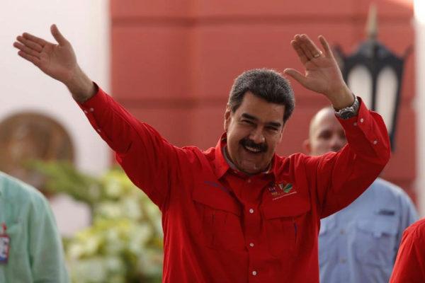 Venezuela&apos;s President Nicolas <HIT>Maduro</HIT> takes part in a...