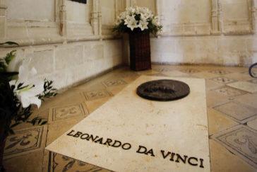 La tumba de Leonardo, en la capilla del castillo de Amboise.