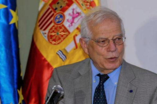 El ministro español de Asuntos Exteriores en funciones, Josep...