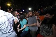 Inés Arrimadas en la manifestación del Orgullo gay en Madrid, donde Coidadanos dijo haber sufrido escraches.