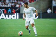 Hazard en la pretemporada del Real Madrid