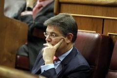 Rafael Catalá durante una sesión de control al Gobierno en 2018.