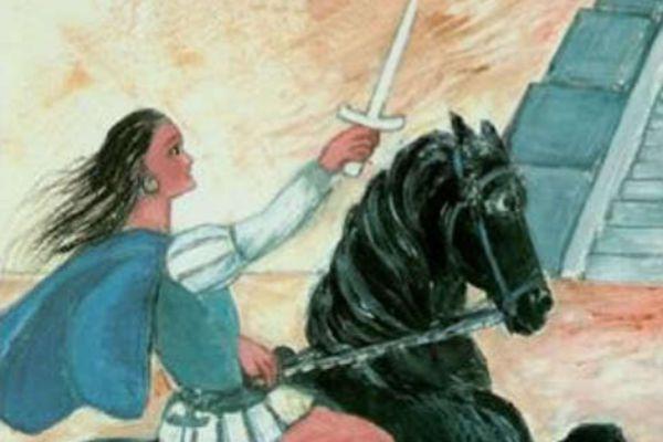 Ilustración de María de Estrada, utilizada por Gloria Durán en su...