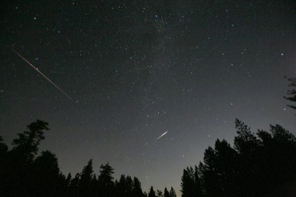 Lluvia de estrellas en el Parque Nacional Frazier Park, California