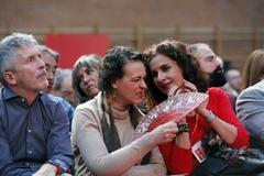 La ministra de Trabajo, Magdalena Valerio, y la responsable de Hacienda, María Jesús Montero, en un acto del PSOE.