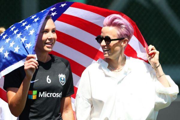 Megan Rapinoe, capitana de la Selección femenina de fútbol de EEUU.