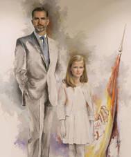 El cuadro de Felipe VI con la Princesa Leonor que pinto Ricardo Sanz