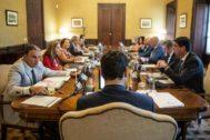 Moreno Bonilla preside este martes la reunión del Consejo de Gobierno en el Palacio de San Telmo.