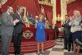 La presidenta de la Diputación de Cádiz, Irene García, en su toma de posesión hace cuatro años.