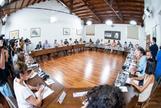 Los miembros de la Comisión Ejecutiva Regional del PSOE andaluz reunidos este lunes bajo la presidencia de SusanaDíaz en Sevilla.