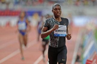 Caster Semenya, durante una carrera.