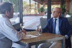 José María García, en un momento de la entrevista con Paco Grande.