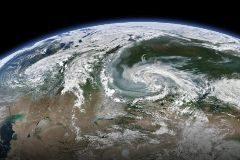 Imagen de satélite que muestra los incendios forestales en 11 regiones de Rusia en medio de un verano caluroso y seco. Irkutsk, Krasnoyarsk y Buriatia.