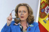 La ministra de Economía en funciones, Nadia Calviño.