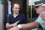 Francesco Arcuri sale de los juzgados de Granada en una imagen de archivo.