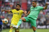 Hazard, durante el partido ante el Fenerbahçe en Múnich.