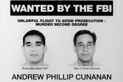 Cartel del FBI con información relativa al asesino de Versace.