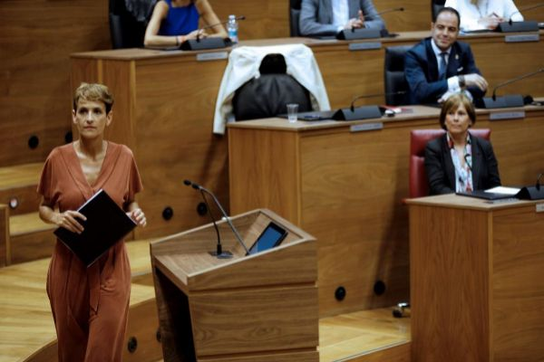 María Chivite, candidata del PSN a la Presidencia de Navarra.