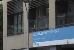 Cartle comercial sobre una vivienda en alquiler en Barcelona.