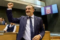 Javier Esparza, este viernes en en el pleno de investidura en el Parlamento de Navarra.
