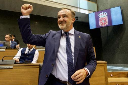 Javier Esparza, este viernes en en el pleno de investidura en el...