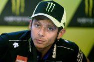 Rossi, durante la rueda de prensa del jueves en Brno.