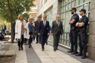 Mas junto al resto de ex cargos del Govern condenados a su llegada al Tribunal de Cuentas